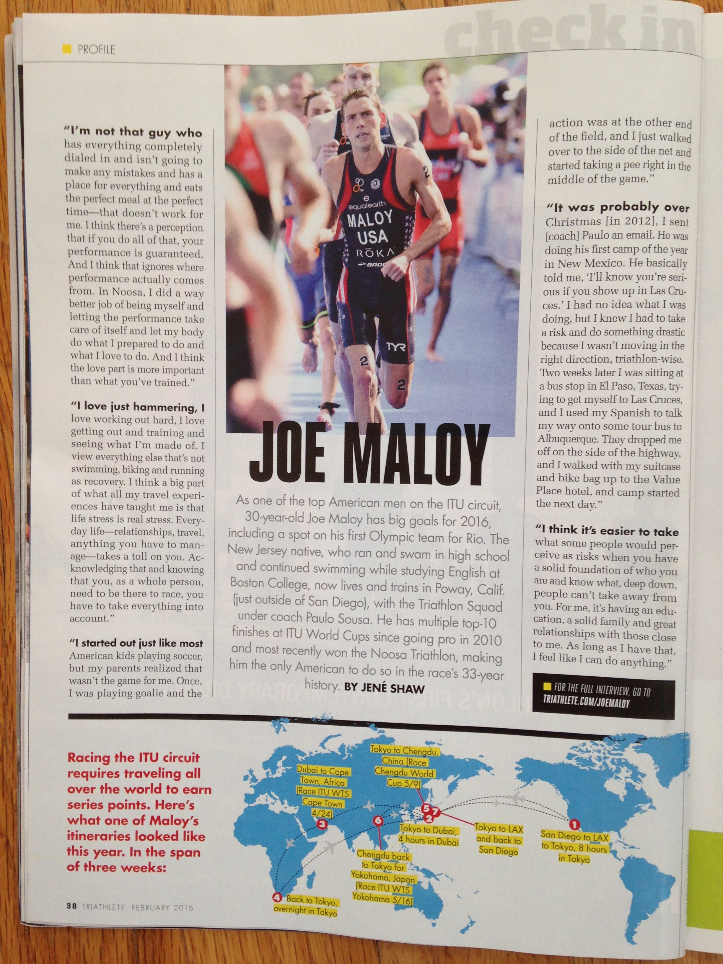 Joe Maloy Feb 2016 Triathlete Magazine